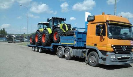 Перевозка трактора Киев — Черкассы, Черкассы — Киев