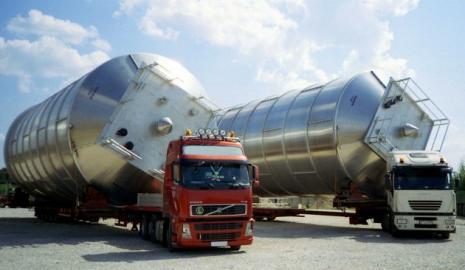 Перевозка негабаритного груза автотранспортом